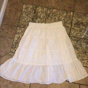 Old Navy White Breezy Skirt